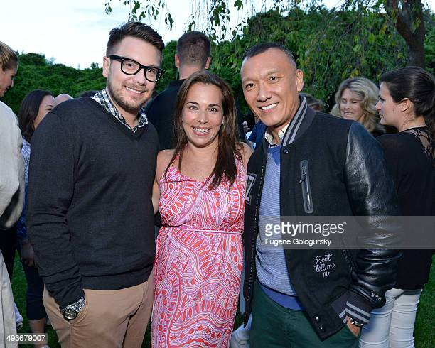 Rob Younkers Samantha Yanks and Joe Zee attend the Hamptons Magazine Celebration of Memorial Day Cover Star Heidi Klum on May 24 2014 in Southampton...