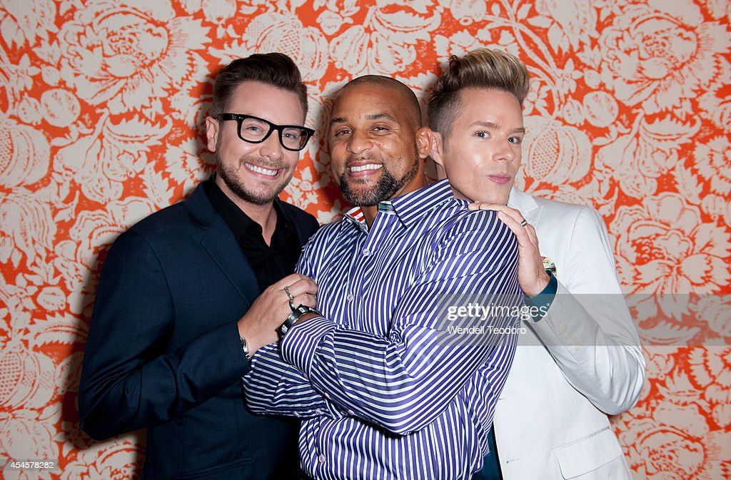 Rob Younkers, Shaun T and Theodore Leaf attends the 'Secret Guide To Fabulous' Premiere Party at the Crosby Hotel on September 3, 2014 in New York City.