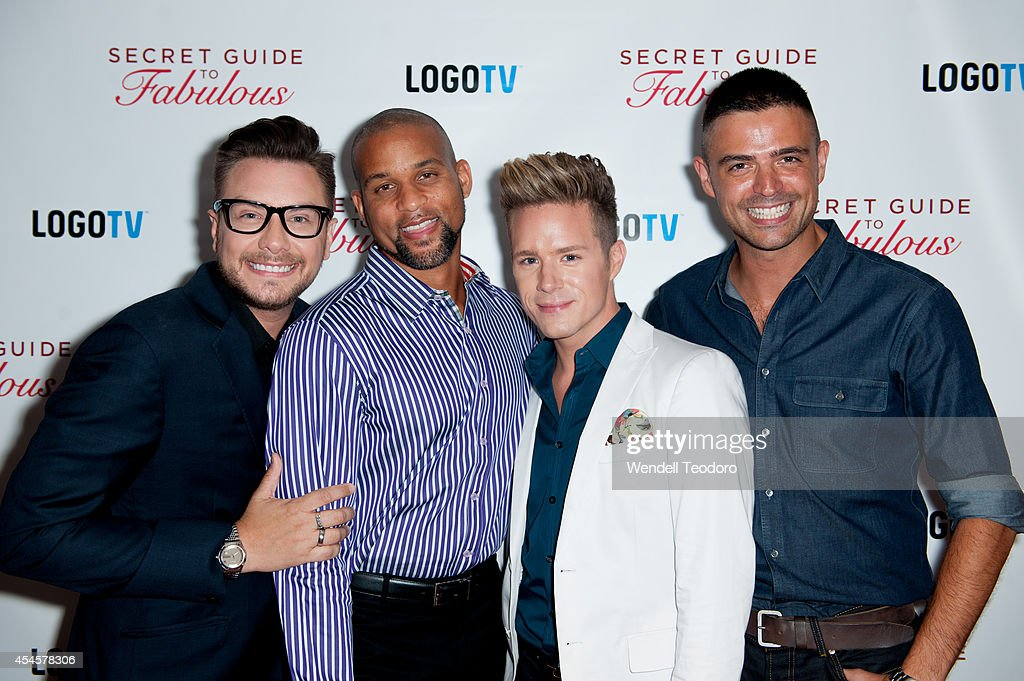Rob Younkers, Shaun T, Theodore Leaf and John Gidding attends the 'Secret Guide To Fabulous' Premiere Party at the Crosby Hotel on September 3, 2014 in New York City.