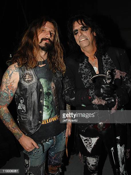 Rob Zombie and Alice Cooper during the 2007 Spike TV Scream Awards at The Greek Theater on October 19 2007 in Los Angeles California