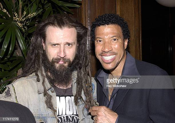 Rob Zombie and Lionel Richie during UMG 2002 Grammy Party Only Celebs at Cicada in Los Angeles California United States