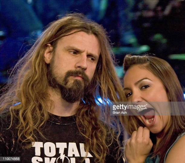 Rob Zombie and Marianela Pereyra during FUSE with Gnarls Barkley and Rob Zombie at FUSE Studios in New York New York United States