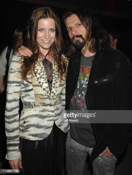 Rob Zombie and Sheri Moon during Grindhouse Los Angeles Premiere After Party in Los Angeles California United States