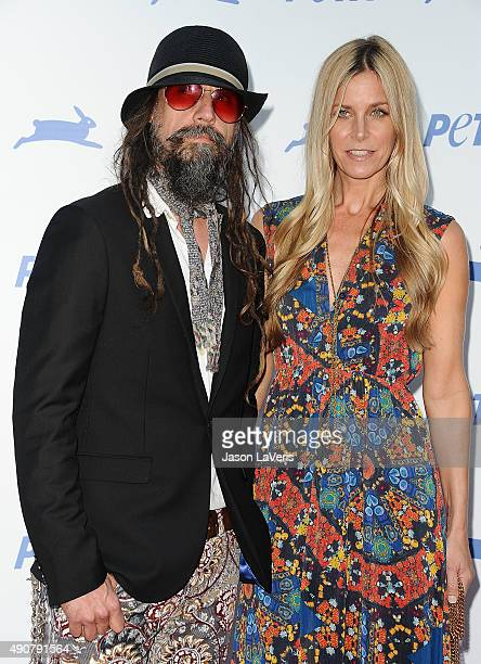Rob Zombie and Sheri Moon Zombie attend PETA's 35th anniversary party at Hollywood Palladium on September 30 2015 in Los Angeles California
