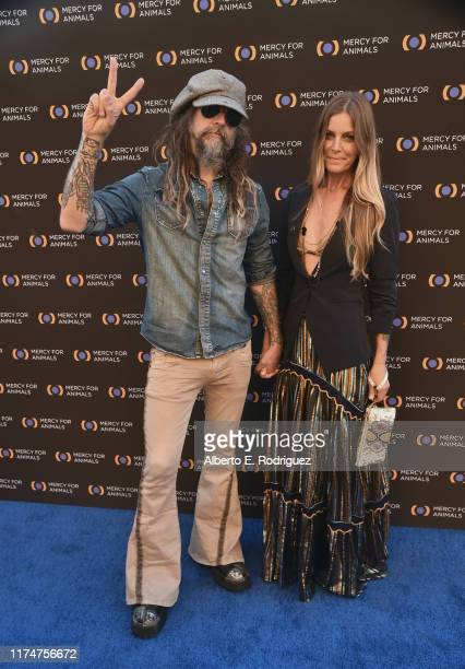 Rob Zombie and Sheri Moon Zombie attend the Mercy For Animals 20th Anniversary Gala at The Shrine Auditorium on September 14 2019 in Los Angeles...