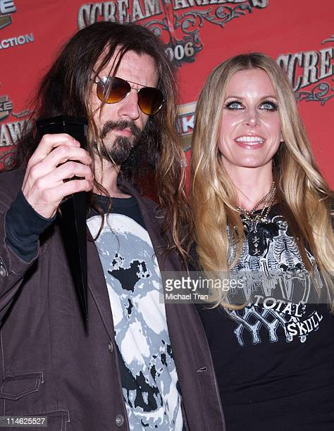 Rob Zombie and Sheri Moon Zombie during Spike TV's Scream Awards 2006 Press Room at Pantages Theater in Hollywood California United States