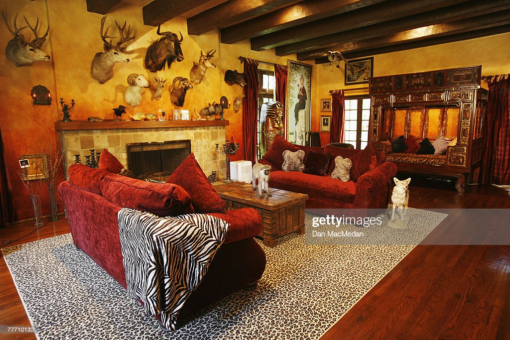 Rob Zombie and Sheri Moon Zombie's home is photographed for ... on earthquake home design, macabre home design, new mexico home design, old fashioned home design, monster home design, hurricane home design, hollywood home design,