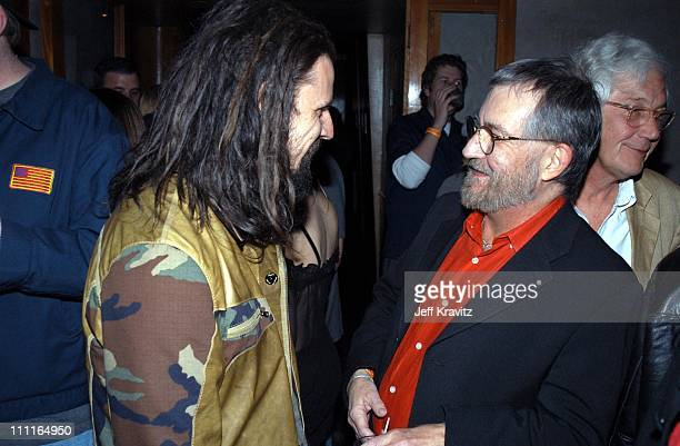 Rob Zombie and Tobe Hooper during House of 1000 Corpses Post Party at Las Palmas Nightclub in Hollywood CA United States