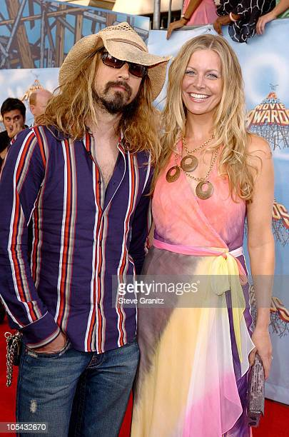 Rob Zombie and wife Sheri Moon during 2005 MTV Movie Awards Arrivals at Shrine Auditorium in Los Angeles California United States