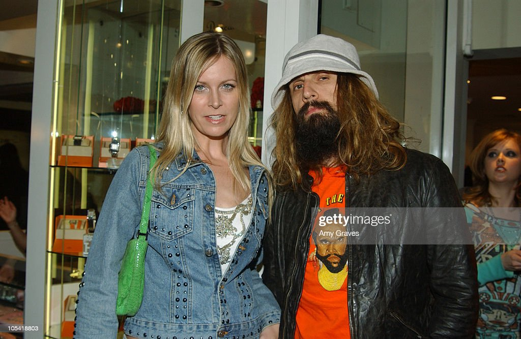 Rob Zombie (right) and wife Sheri Moon during Vogue and Samsung Present the Anna Sui Mobile at Fred Segal Store in Santa Monica, California, United States.