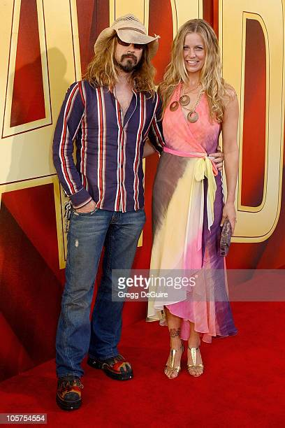 Rob Zombie and wife Sheri Moon Zombie during 2005 MTV Movie Awards Arrivals at Shrine Auditorium in Los Angeles California United States