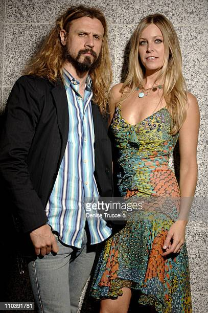 Rob Zombie and wife Sheri Moon Zombie during CineVegas Film Festival 2005 Devil's Rejects Portraits at Brenden Celebrity Suite in Las Vegas Nevada...