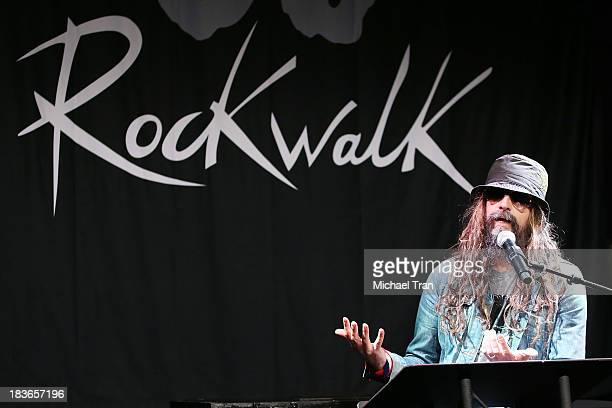Rob Zombie attends the Korn induction ceremony into Guitar Center's RockWalk held on October 8 2013 in Hollywood California