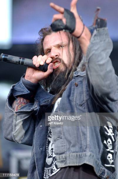 Rob Zombie during 10th Annual KROQ Weenie Roast at Irvine Meadows in Irvine California United States