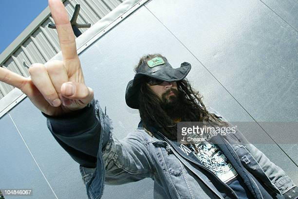 Rob Zombie during Live 105's 9th Annual Big Friggin' Deal Backstage at Shoreline Amphitheatre in Mountain View California United States