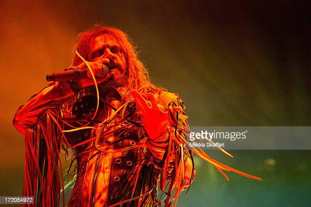 Rob Zombie is performing at Rockstar Energy Drink Mayhem Festival on June 30 2013 in Mt View California