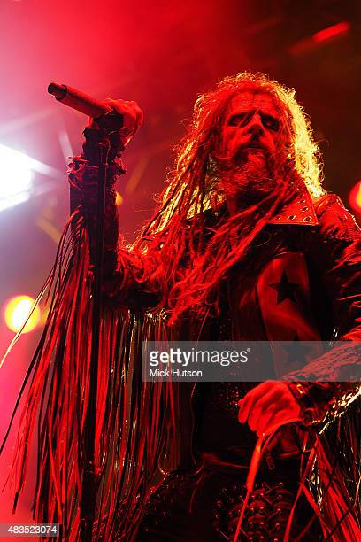 Rob Zombie of Rob Zombie performs onstage at Catton Park on August 9 2015 in Burton upon Trent England