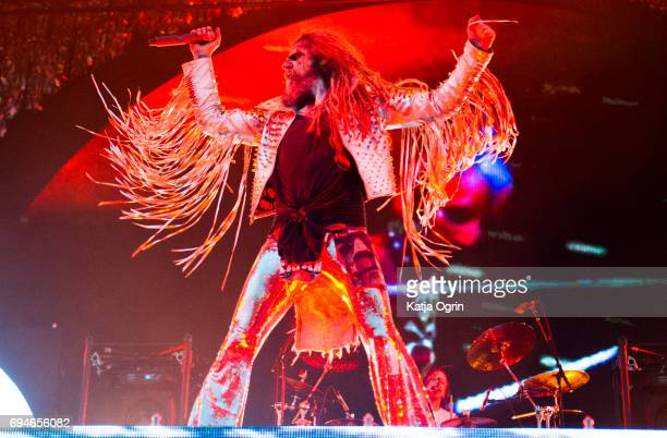 Rob Zombie performing live on Day 2 of Download Festival at Donington Park on June 10 2017 in Castle Donington UK