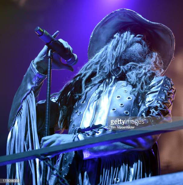 Rob Zombie performs as part of the Rockstar Energy Drink Mayhem Festival at Shoreline Amphitheatre on June 30 2013 in Mountain View California