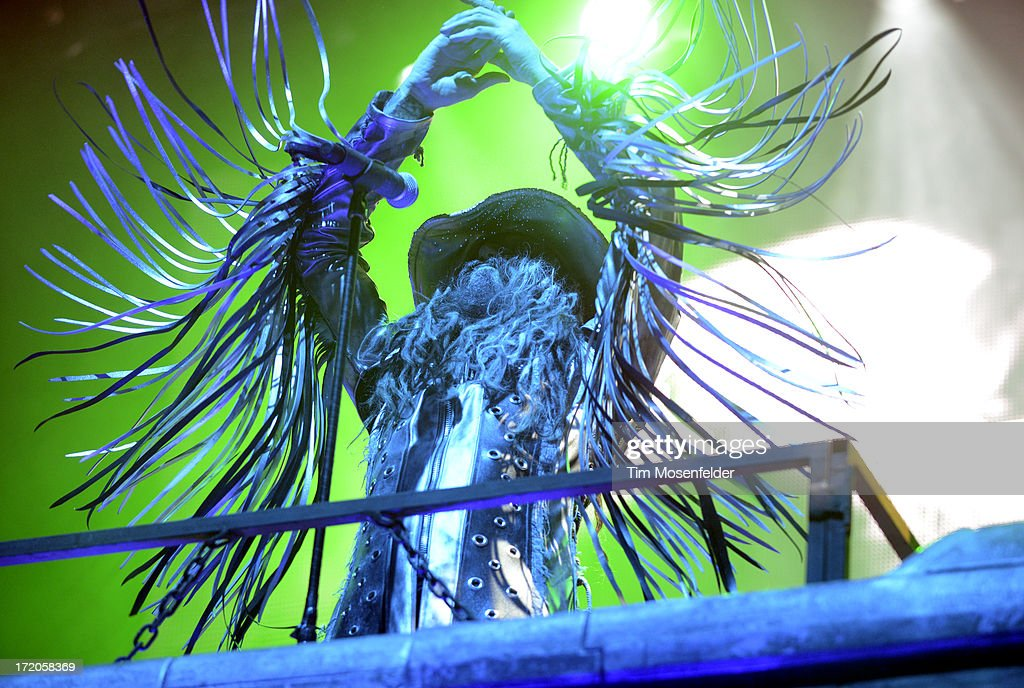 Rob Zombie performs as part of the Rockstar Energy Drink Mayhem Festival at Shoreline Amphitheatre on June 30, 2013 in Mountain View, California.