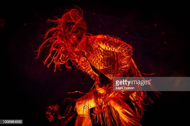 Rob Zombie performs at the Heavy Montreal festival at Parc JeanDrapeau on July 28 2018 in Montreal Canada