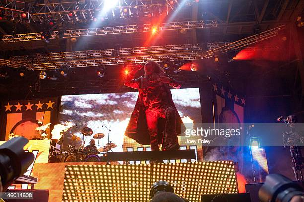 Rob Zombie performs live during the 2012 Rock On The Range festival at Crew Stadium on May 20 2012 in Columbus Ohio
