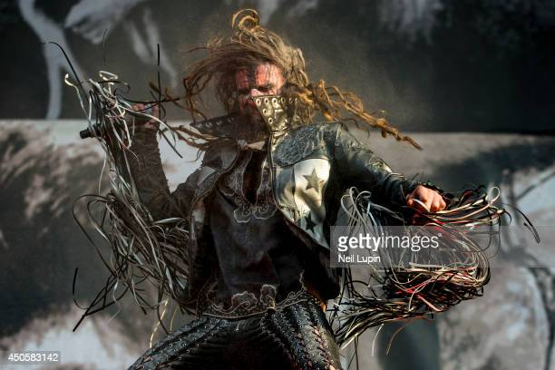 Rob Zombie performs on Day 1 of the Download Festival at Donington Park on June 13 2014 in Castle Donington England