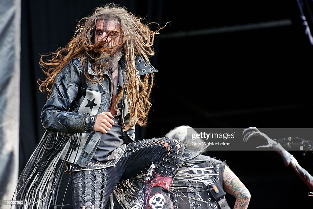 Rob Zombie performs on stage at Download Festival at Donnington Park