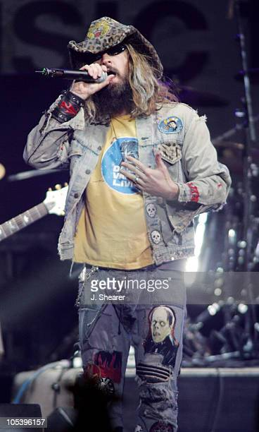 Rob Zombie performs with Camp Freddy during All Star 'Music For Relief Rebuilding South Asia' Benefit Concert Show at Arrowhead Pond in Anaheim...