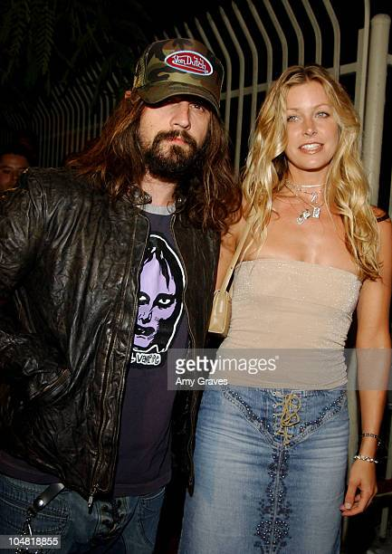 Rob Zombie Writer/Director and wife Sheri Moon during House of 1000 Corpses DVD Premiere Party at Club AD in Los Angeles California United States