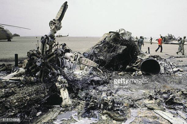 RobatEPoshtE Badam Iran One of the US helicopters in the failed attempt to rescue the US hostages in Tehran lies in ruins near this desert oasis An...