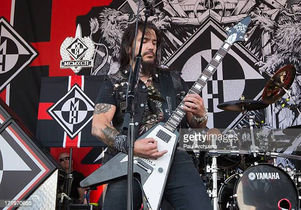 Robb Flynn of the Metal Band Machine Head performs live at the 2013 Rockstar energy drink Mayhem Festival at the San Manuel Amphitheater on June 29,...