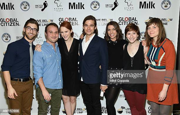 Robb Nanus Adam Butterfield Rachel Brosnahan Jason Ralph Karlee Fomalont Rachel Sussman and Carie Lott attend The Global Poverty Project hosted 4th...