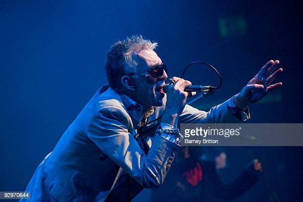 Robb Spragg of Alabama 3 performs on stage at The Forum on November 10, 2009 in London, England.
