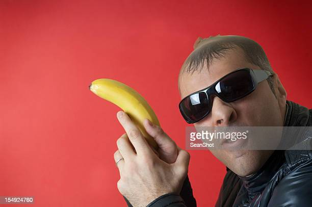 Robber with pantyhose and banana