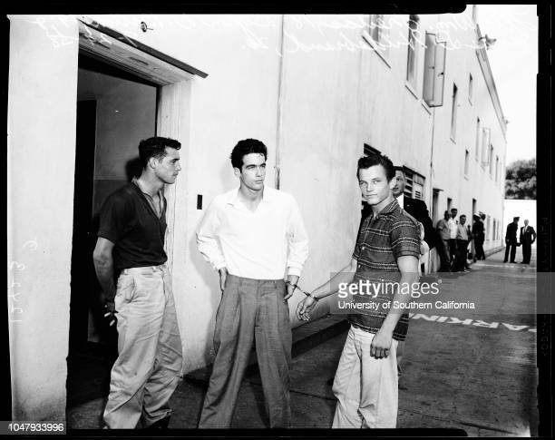 Robbery suspects 13 guns were taken 24 September 1958 William Freitas 18 years Byron D Barton 19 years James D Hildebrand 20 years Officer Don...