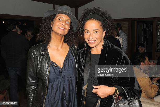 Robbi Chong and Rae Dawn Chong attend Lisa Edelstein's Birthday Party at Private Residence on May 21 2016 in Silverlake CA