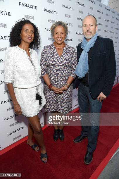 Robbi Chong Rae Dawn Chong and Mitchell Long attend the Los Angeles Premiere of Parasite on October 02 2019 in Hollywood California