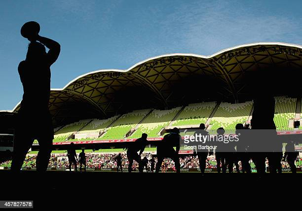Robbie Abel of the Spirit throws the ball into a lineout during the NRC Semi Final match between Melbourne Rising and Perth Spirit at AAMI Park on...