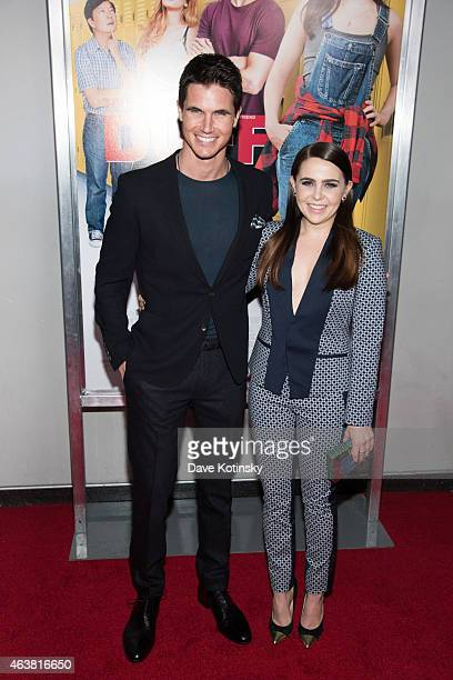 Robbie Amell and Mae Whitman attends the The Duff New York Premiere at AMC Loews Lincoln Square on February 18 2015 in New York City