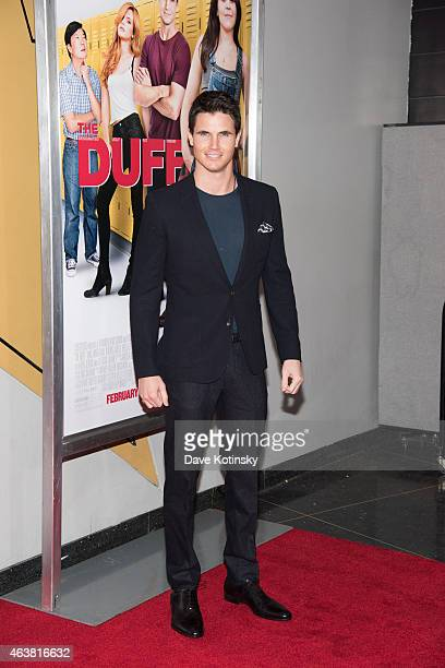 Robbie Amell attends the The Duff New York Premiere at AMC Loews Lincoln Square on February 18 2015 in New York City