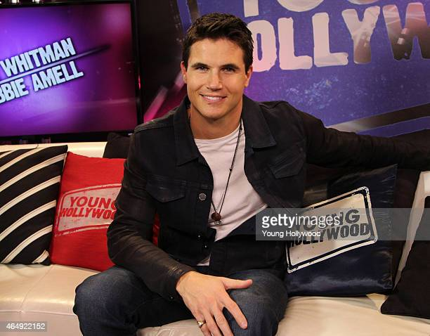 Robbie Amell visits the Young Hollywood Studio on February 12 2015 in Los Angeles California