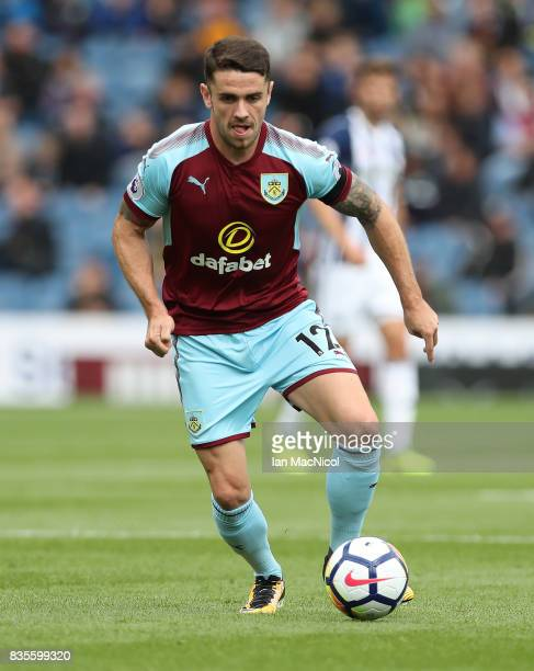 Robbie Brady of Burnley controls the ball during the Premier League match between Burnley and West Bromwich Albion at Turf Moor on August 19 2017 in...