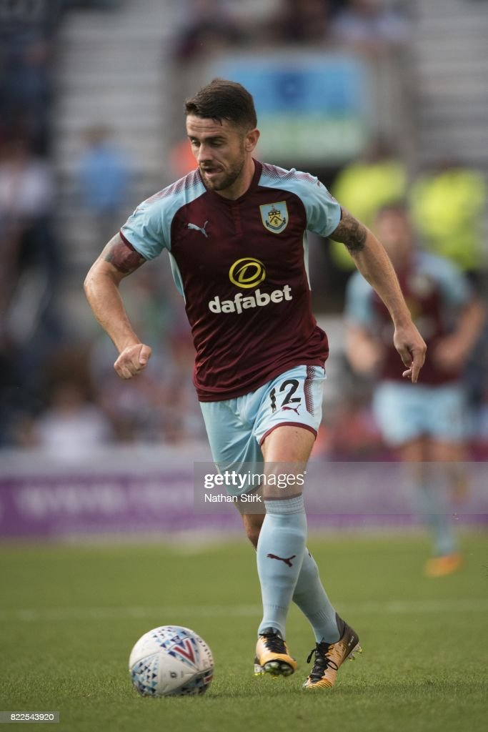 Robbie Brady of Burnley in action during the pre season friendly match between Preston North End and Burnley at Deepdale on July 25, 2017 in Preston, England.