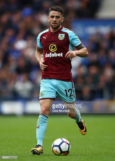 Robbie Brady of Burnley in action during the Premier League match between Everton and Burnley at Goodison Park on October 1 2017 in Liverpool England