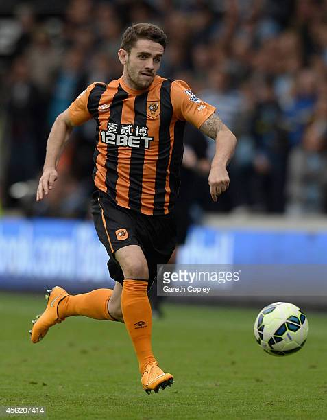 Robbie Brady of Hull City during the Barclays Premier League match between Hull City and Manchester City at KC Stadium on September 27 2014 in Hull...