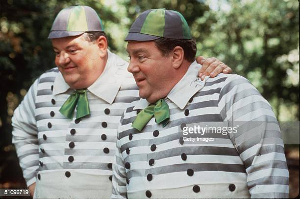 Robbie Coltrane And George Wendt Star As Tweedle Dee And Tweedle Dum In The Tv Movie 'Alice In Wonderland'