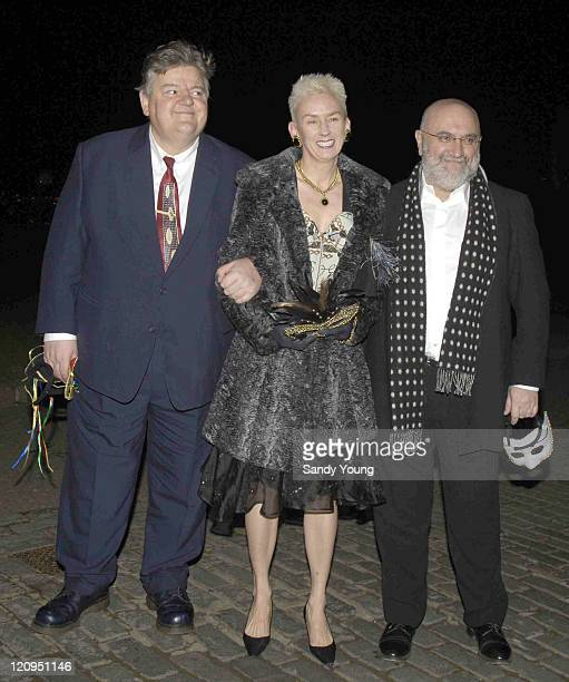 Robbie Coltrane Muriel Gray and Alexi Sayle during The Masquerade Ball to Benefit the Multiple Sclerosis Society March 17 2006 at Stirling Castle in...