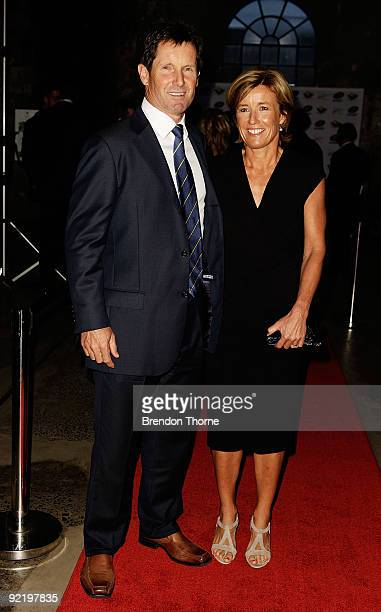 Robbie Deans and wife Penny Deans pose for a photograph during the John Eales Medal Dinner at the Carriage Works on October 22 2009 in Sydney...