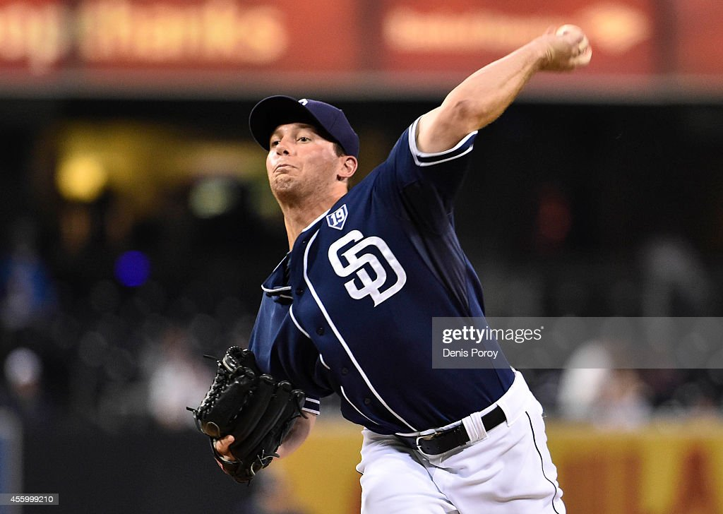 Robbie Erlin #41 of the San Diego Padres pitches during the first inning of a baseball game against the Colorado Rockies at Petco Park September, 23, 2014 in San Diego, California.